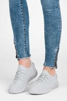Šněrovaná textilní obuv šedá