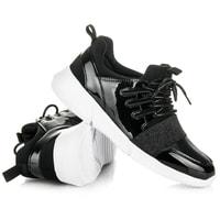Lakovaná sportovní obuv černá