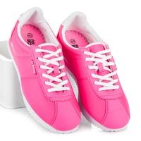 Vázané sportovní boty růžové