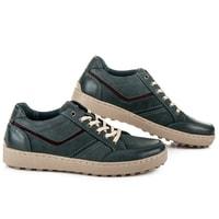 Kožené sportovní boty modré