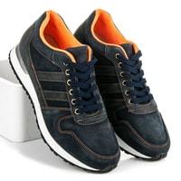 Sportovní kožené boty modré