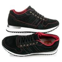 Sportovní kožené boty černé