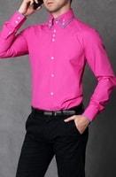 Slim fit košile růžová
