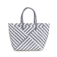 Zajímavá šedo-bílá kabelka
