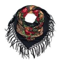 Černý folklórní šátek