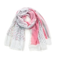 Zajímavý bílo-růžový šál