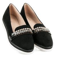 Dámská obuv s kamínky černá
