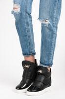 Sneakery na suchý zip černé