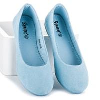 Pohodlné modré baleríny