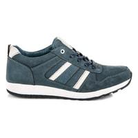 Sportovní kožené boty šedobílé