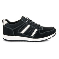 Sportovní kožené boty černobílé