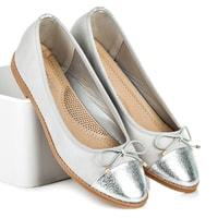 Jarní dámská obuv stříbrná