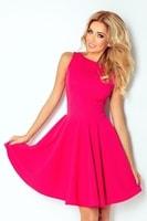 Dámské elegantní šaty růžové