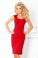 Dámské přiléhavé šaty červené