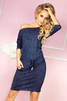 Dámské modré asymetrické šaty