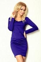 Dámské hezké fialové šaty s dlouhým rukávem
