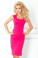 Dámské výrazné růžové šaty