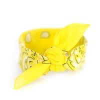 Šátek do vlasů pin-up žlutý