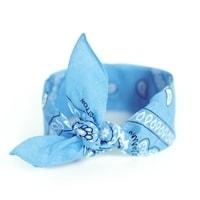 Šátek do vlasů pin-up do vlasů v odstínu světle modré (baby-blue)