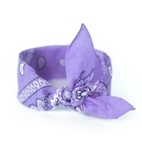 Šátek do vlasů pin-up světle fialový (lila)