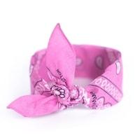 Šátek do vlasů pin-up růžový