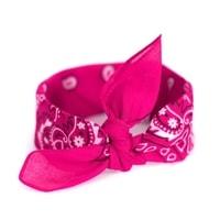 Šátek do vlasů pin-up výrazně růžový