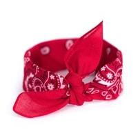 Šátek do vlasů pin-up červený