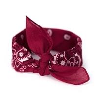 Šátek do vlasů pin-up vínový
