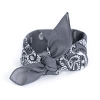 Šátek do vlasů pin-up šedý