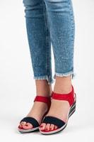 Dámské pohodlné sandály červené