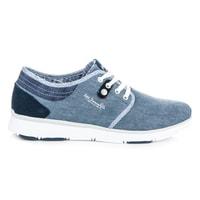 Světle modré textilní tenisky džínové