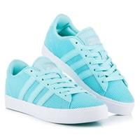 Modrá sportovní obuv Adidas cf daily qt w
