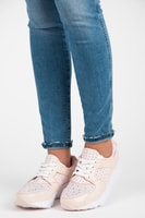 Růžové sportovní boty s kamínky