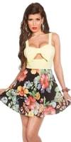 Květované letní šaty-žluté