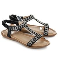 Černé elegantní sandály na gumu