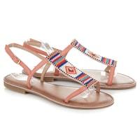 Ploché růžové sandály indian style
