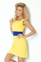 Dámské elegantní šaty žluté