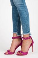 Stylové sandály s ozdobami fialové