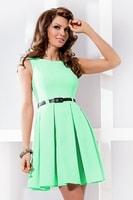 Dámské elegantní pistáciově zelené šaty