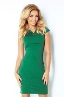 Jednoduché trávově zelené šaty