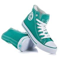 Zelené šněrovací kotníčkové tenisky