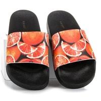 Citrusové nazouváky oranžovo-černé