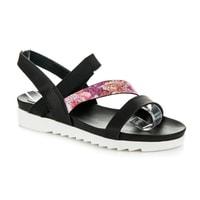 Černé sandály na gumu