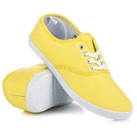 Vázané tenisky new age žluté