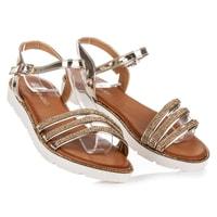 Letní lakovaná obuv zlatá