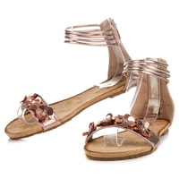 Ploché sandály na zip