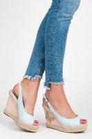 Stylové sandály s motýlkem modré