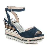 Sandály s etnickým vzorem modré