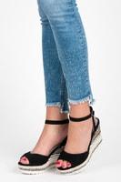 Sandály s etnickým vzorem černé
