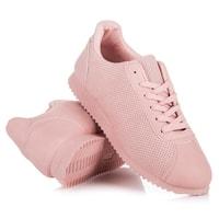 Ažurové sportovní boty růžové